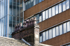 Crown chimney pots Royalty Free Stock Photography