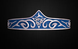 Crown circlets Blue and silver Royalty Free Stock Image