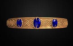 Crown circlets (Princess) Gold and blue Stock Photos
