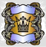 Crown coat of arms Royalty Free Stock Photos