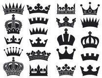 Crown collection. Crown set, silhouette crown set Stock Photo