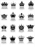 Crown collection. Vector illustration of various crown designs Stock Images