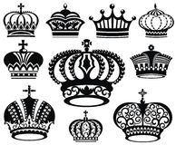 Crown collection Stock Photos