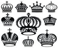 Crown collection Stock Photos