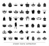 Crown collection . Hand drawn vector illustration Stock Image