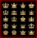 icons crown vector Stock Photography