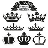 Crown collection isolated on white vector Stock Photos