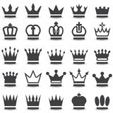 Crown collection. (crown set, silhouette crown set Royalty Free Stock Photos