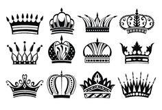 Crown collection Royalty Free Stock Photography