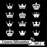 Crown collection - vector silhouette Stock Photography