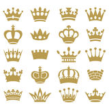 Crown collection - vector silhouette Royalty Free Stock Images