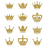 Crown collection - vector silhouette Royalty Free Stock Photos