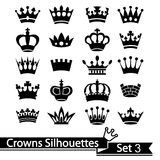 Crown collection - vector silhouette Royalty Free Stock Photo