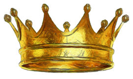 Kings Gold Crown sketch Royalty Free Stock Photo