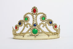 Crown with colorful stones Stock Image
