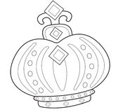 Crown coloring page Royalty Free Stock Image
