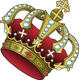 Crown, Cross, Jewelry, Red, Power Stock Images