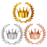 Crown crown medal Royalty Free Stock Photo