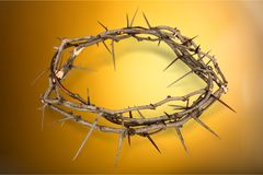 Crown. Thorn jesus christ religion  of thorns christianity easter Royalty Free Stock Photo
