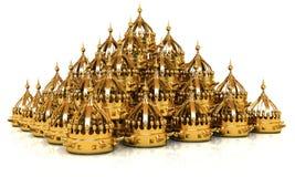 crown 3d rendono illustrazione di stock