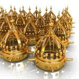 crown 3d rendono illustrazione vettoriale