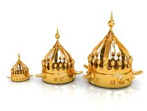 crown 3d rendono royalty illustrazione gratis