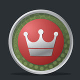 Crown dark badge Royalty Free Stock Photography
