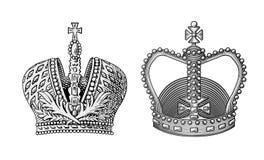 crown den kungliga vektorn stock illustrationer