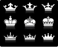 Crown Design Collection Royalty Free Stock Photo
