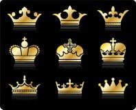 Crown design collection Stock Photos