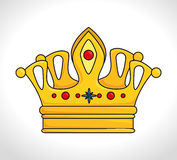 Crown digital design. Royalty Free Stock Photography