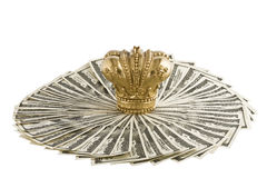 Crown on  dollars Stock Image