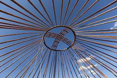 Crown of the dome of a nomadic yurt in Kazakhstan. royalty free stock image