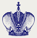 Crown. Doodle style Stock Photography