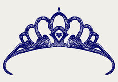 Crown. Doodle style Royalty Free Stock Photos