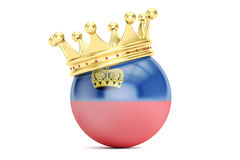 Crown with flag of Principality of Liechtenstein, 3D rendering Royalty Free Stock Photos