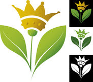 Crown flower vector illustration