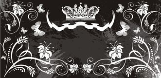 Crown and flowers background Royalty Free Stock Photography