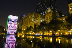 Crown fountain in Chicago. Crown fountain in Millennium park in Chicago at night royalty free stock photography