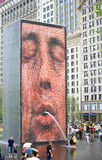 Crown fountain, chicago Royalty Free Stock Photo