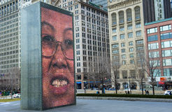 Crown Fountain Stock Photography