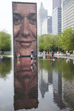 Crown Fountain in Chicago's Millennium Park. Stock Photography