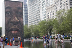 Crown Fountain in Chicago's Millennium Park. Royalty Free Stock Photo