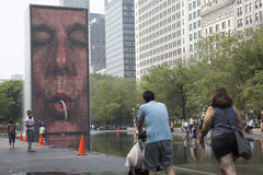 Crown Fountain in Chicago's Millennium Park. Stock Images