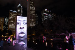 Crown Fountain in Chicago Stock Photos