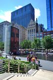 Crown Fountain in Millennium Park Chicago. May be used to advertise ads for travel to millennium park in chicago Stock Images