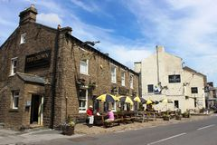 The Crown and the Fountain, two pubs in Hawes Royalty Free Stock Photos