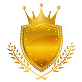 Crown frame medal Royalty Free Stock Photos