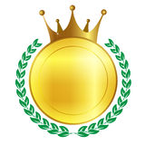 Crown frame medal Royalty Free Stock Photography