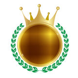 Crown frame medal Royalty Free Stock Images